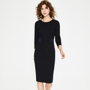black and navy Boden Laura Ottoman dress 16R